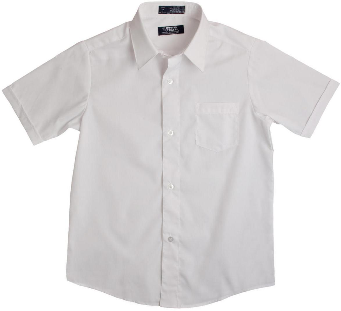 French Toast Boys White Short Sleeves Dress Shirt E9005