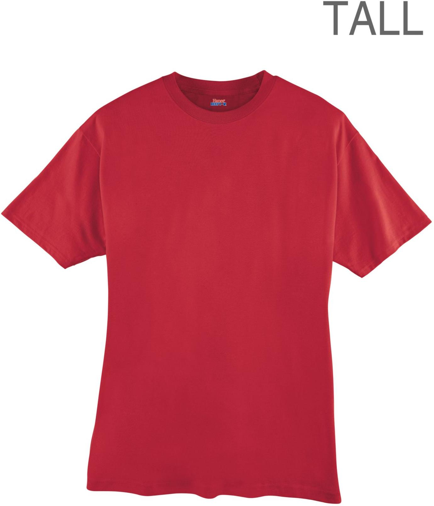 Hanes men 39 s beefy t tall t shirt 518t for Mens tall t shirts