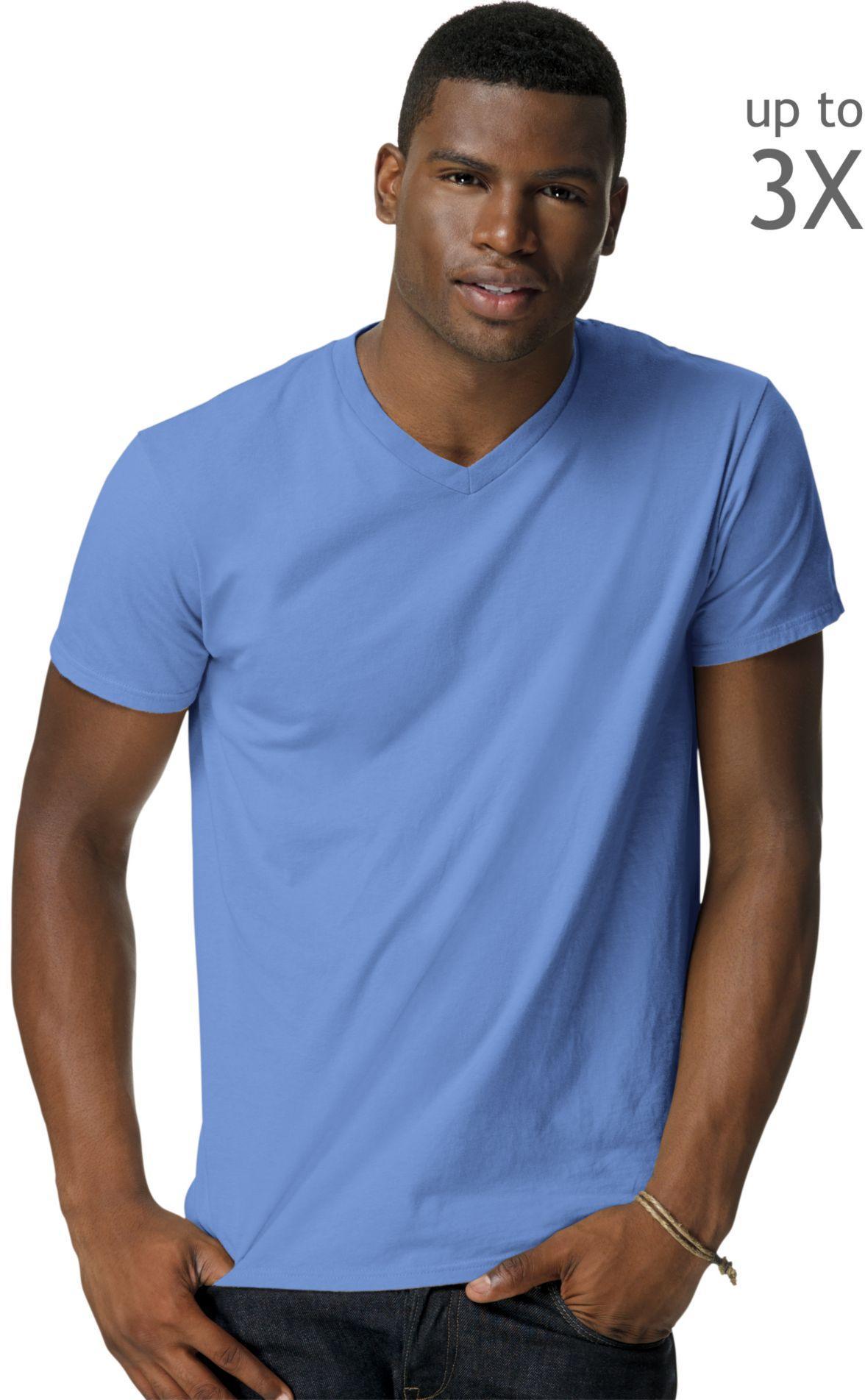 Hanes Men 39 S Nano T V Neck T Shirt 498v Ebay