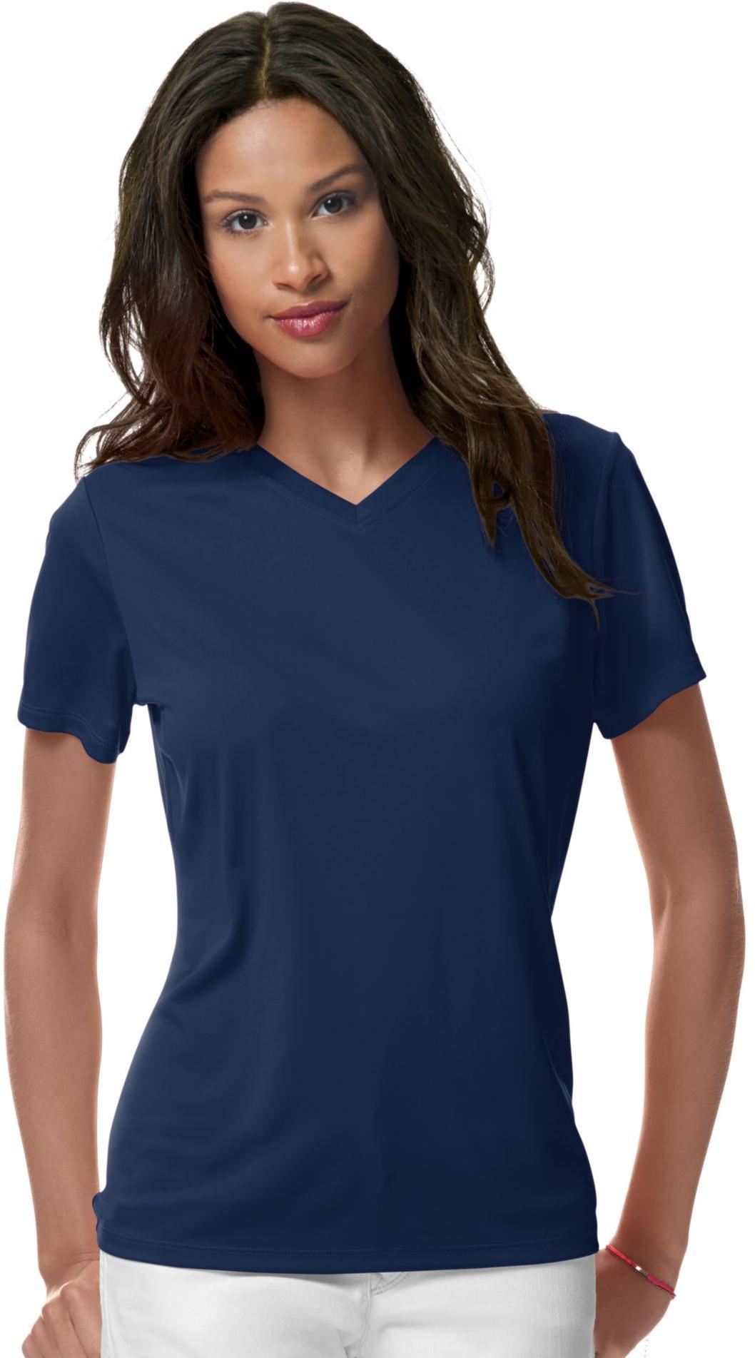 Hanes Women 39 S Cool Dri V Neck T Shirt 483v