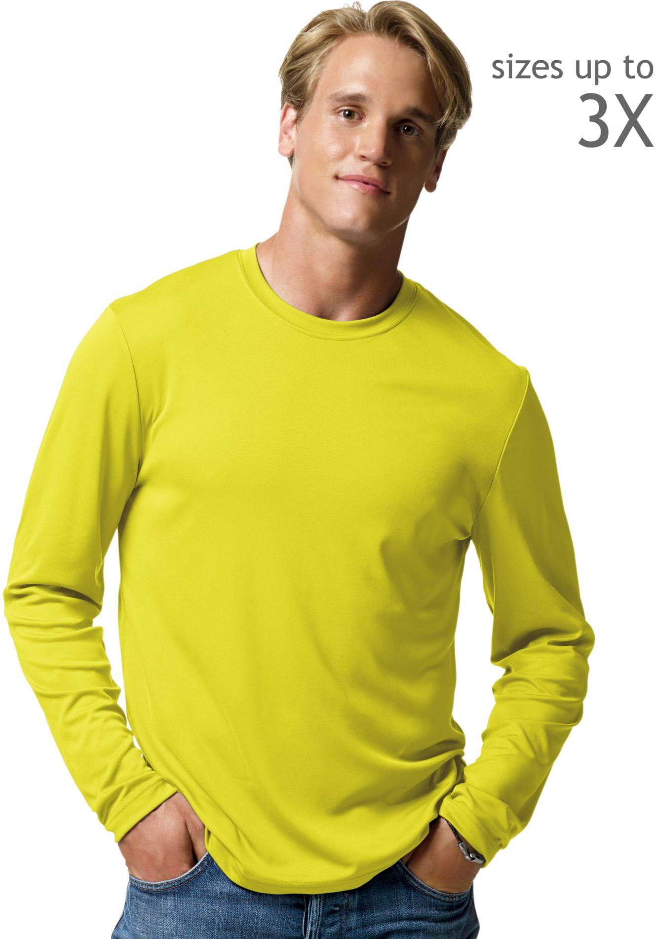 Mens Long Sleeve Yellow T Shirt | Is Shirt